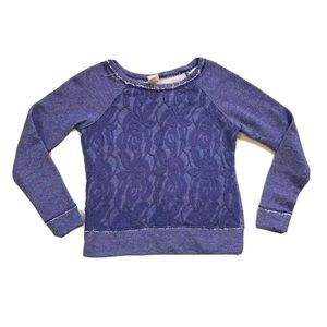 Mossimo Supply Co. Floral Lace Front Sweatshirt